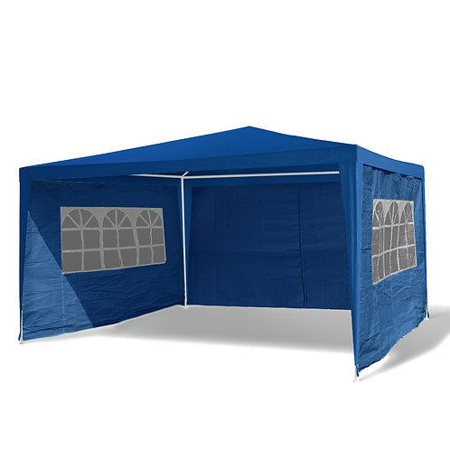 Gartenpavillon Partyzelt 3 x 4 m blau