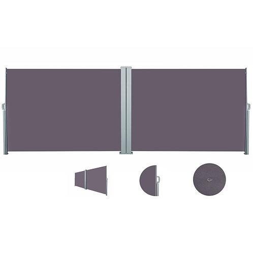 Doppelseitenmarkise 160 x 800 cm anthrazit