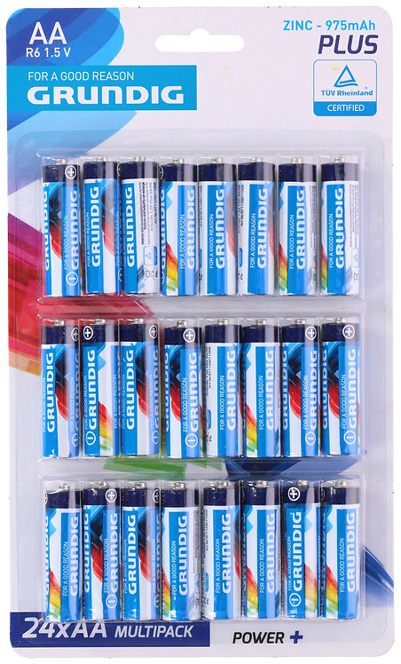 Grundig AA Batterien 24 Stück