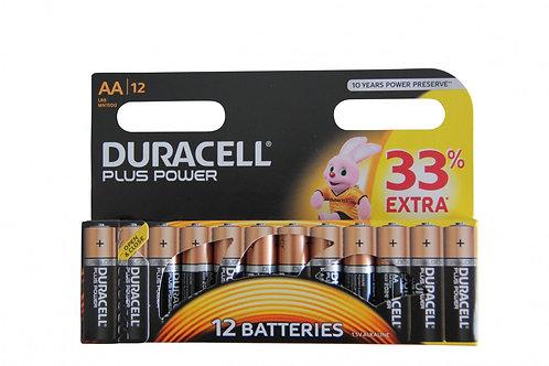 DURACELL Plus Power AA Batterien MN1500 / LR6 12 Stk.