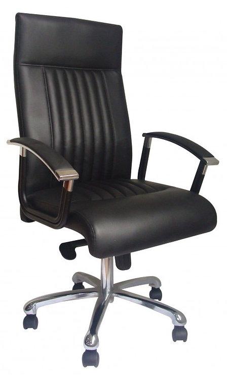 Bürostuhl Leder PEPPER schwarz