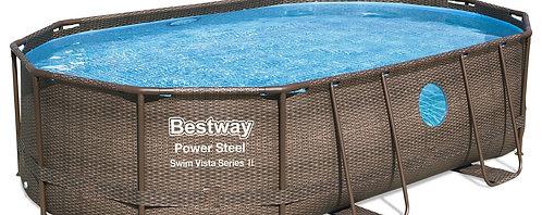 Bestway Swimming Pool Komplett-Set 488 x 305 cm