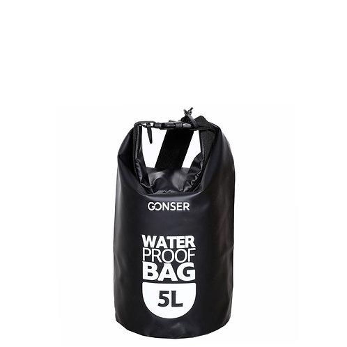 Dry Bag Tasche wasserdicht schwarz 5L