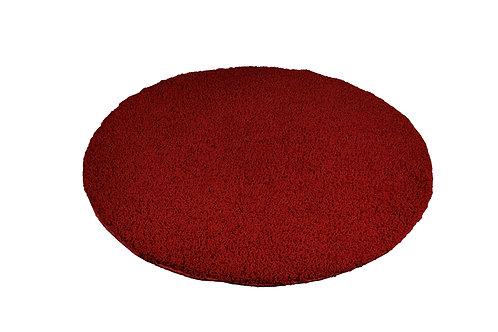 Hochflor Teppich rund 120 cm rot