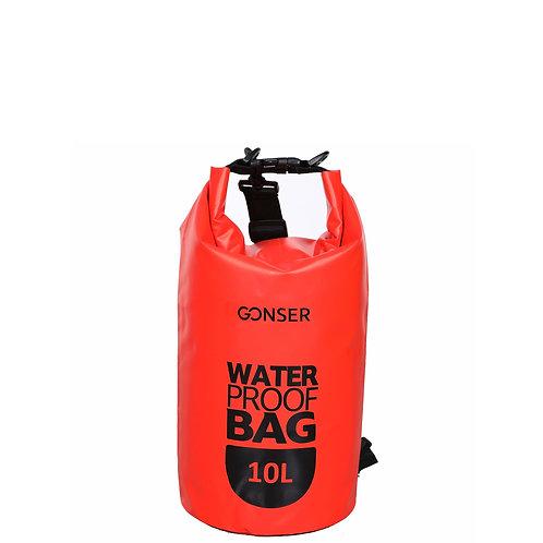 Dry Bag Tasche wasserdicht rot 10L