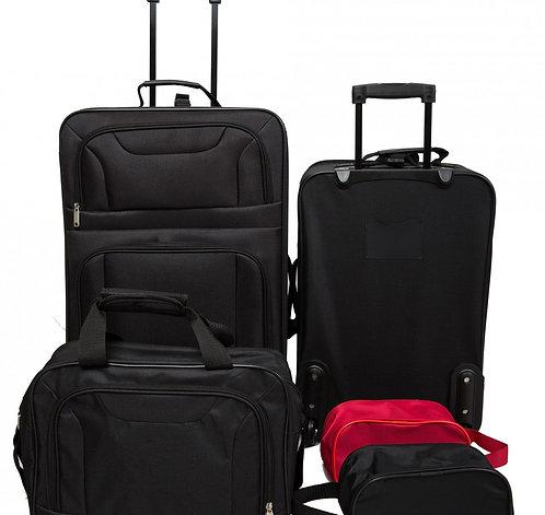 Reisekoffer Polyester 5er SET schwarz