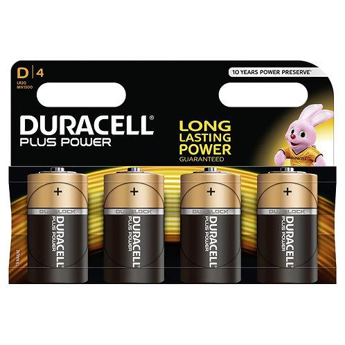 DURACELL Plus Power MN1300 D / LR20 Batterien 4 Stk.