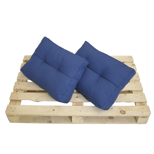 Palettenkissen Doppelpack für Palettenmöbel blau