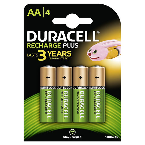 DURACELL StayCharged AA Batterien DX1500 / HR6 1300mAh 4 Stk.