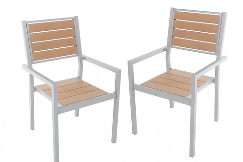 Stuhl Polywood braun im Doppelpack