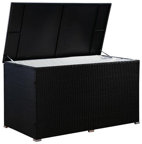 Rattan Kissenbox ZOE 150 x 80 x 85 cm schwarz