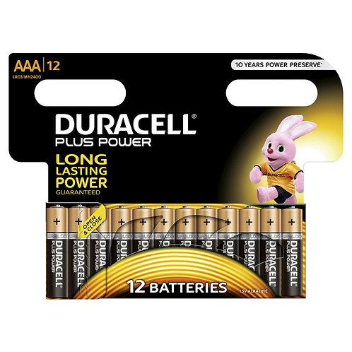DURACELL Plus Power Batterien AAA MN2400 / LR03 12 Stk.