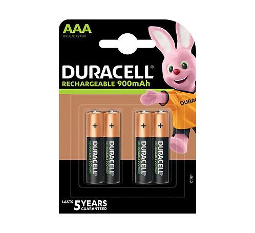 DURACELL StayCharged AAA Batterien DC2400 / HR03 900mAh 4 Stk.