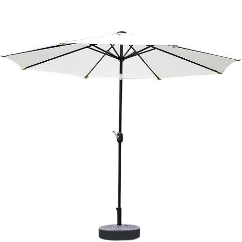 Sonnenschirm mit LED 300 cm weiss