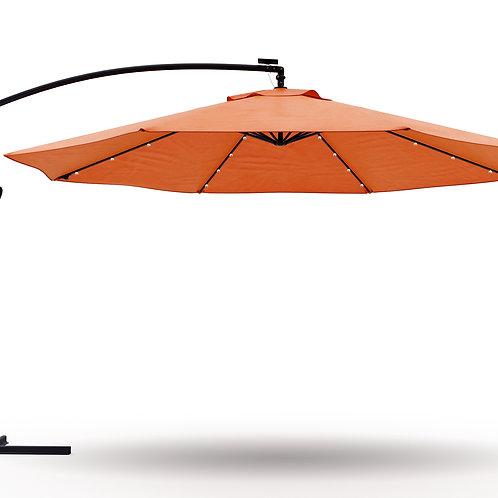 Ampelschirm mit LED 350 cm orange