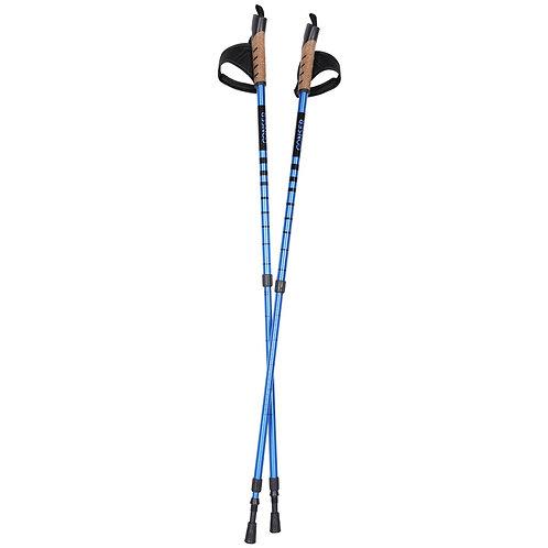 Walking Stöcke Anti-Shock blau