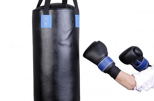Boxsack mit Handschuhen