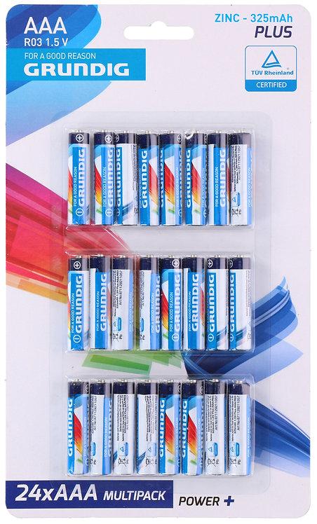 Grundig AAA Batterien 24 Stück