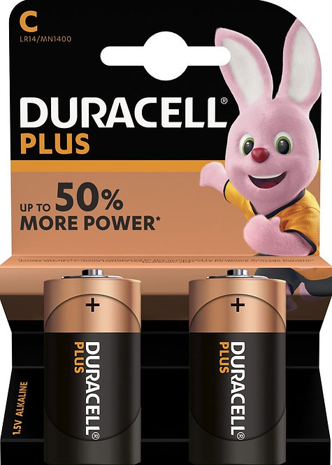 DURACELL Plus Power Batterien MN1400 C / LR14 2 Stk.