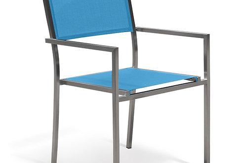 Gartenstuhl Edelstahl blau