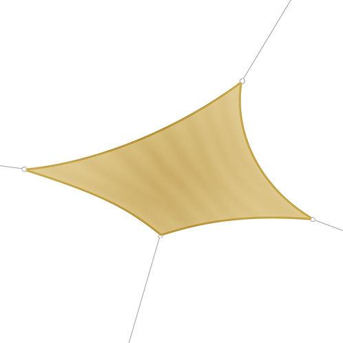 Sonnensegel Polyester Quadrat 3.6 x 3.6m beige
