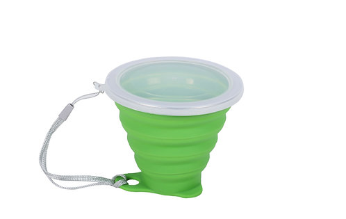 Becher Silikon faltbar grün 270 ml