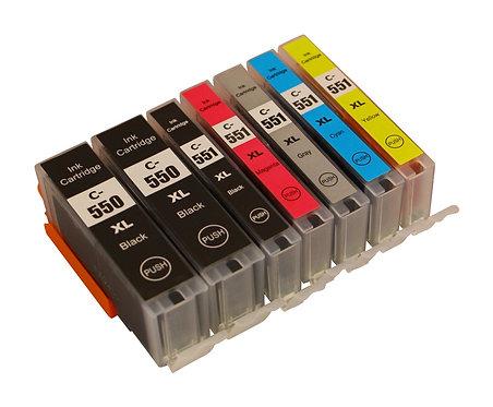 Tintenpatronen Set kompatibel mit Canon PGI-550