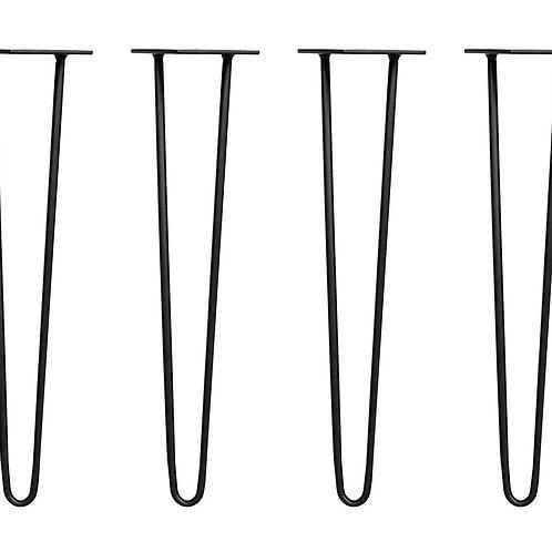 Tischbeine Hairpin schwarz 71 cm