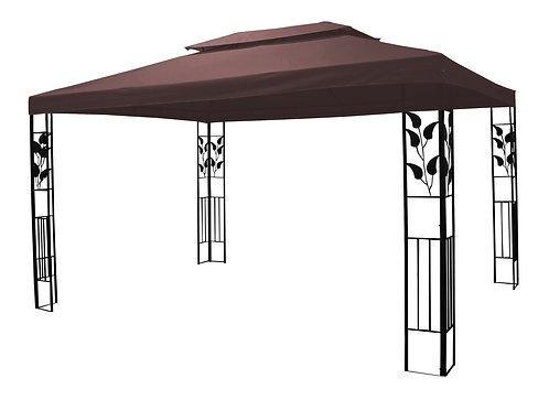 Gartenpavillon Gazebo 3 x 4 m braun