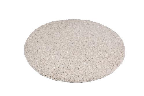 Hochflor Teppich rund 120 cm creme
