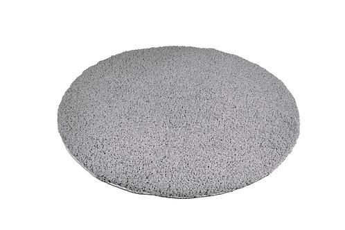 Hochflor Teppich rund 120 cm grau