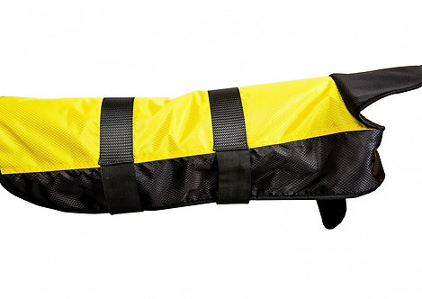 Hundemantel gelb/schwarz 65 cm