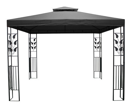 Gartenpavillon Gazebo 3 x 3 m anthrazit