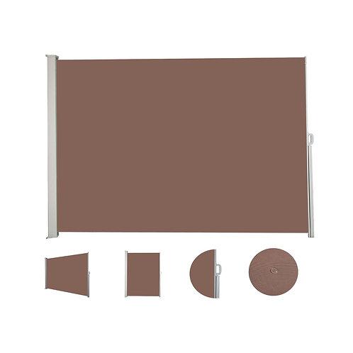 Seitenmarkise 180 x 400 cm braun