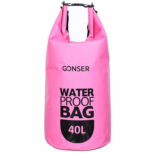 Dry Bag Tasche wasserdicht pink 40L