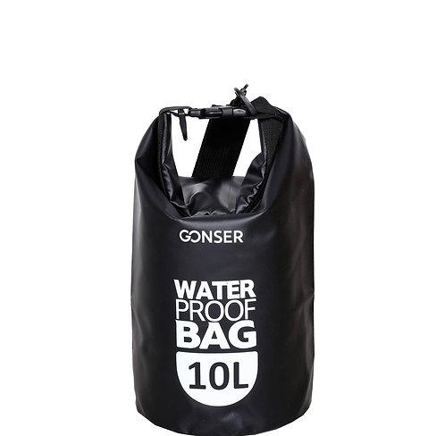 Dry Bag Tasche wasserdicht schwarz 10L