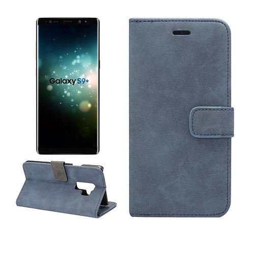 Lederetui blau für Samsung Galaxy S9 Plus