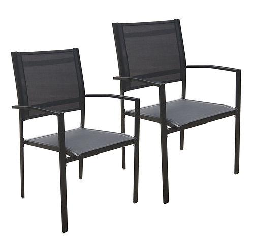 Gartenstühle Doppelpack schwarz