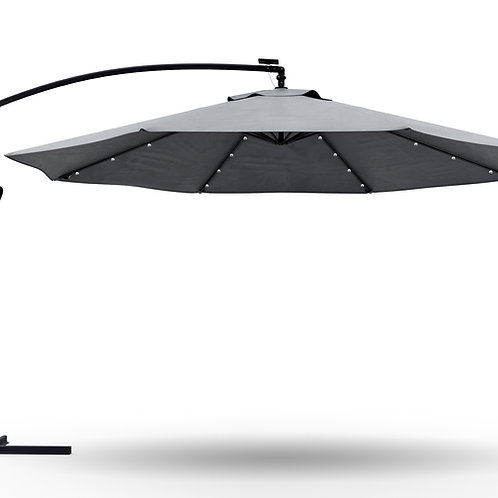 Ampelschirm mit LED 300 cm anthrazit