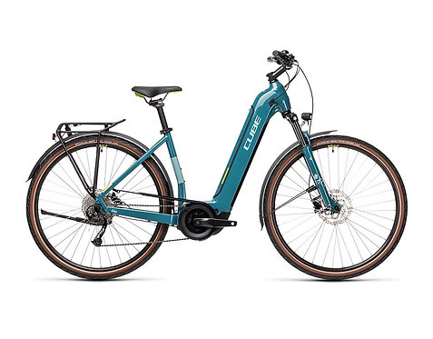 CUBE Touring Hybrid ONE 500 Easy Entry blue´n´green