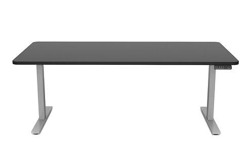 Stehpult elektrisch schwarz/grau 180 x 90 cm