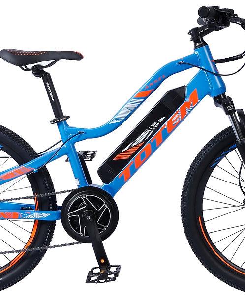 "E-Bike Mountainbike 24"" orange/blau"