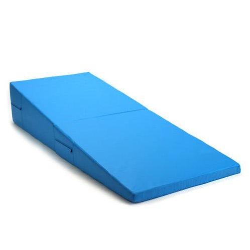 Gymnastikmatte Rampe faltbar hellblau
