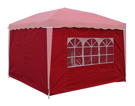 Seitenwände für 3 x 3 m Partyzelt rot 4 Stk