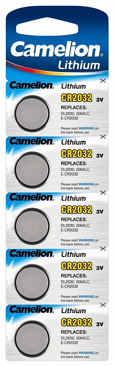 Camelion Lithium CR2032 Knopfzellen Batterien 5 Stk.