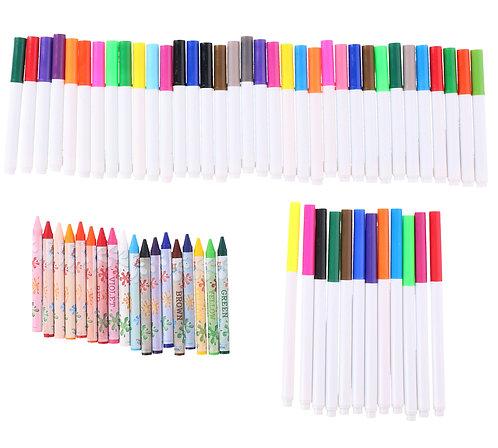 Filz- und Buntstifte Set 65-teilig