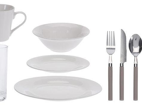 Geschirr-Set 36-teilig mit Besteck
