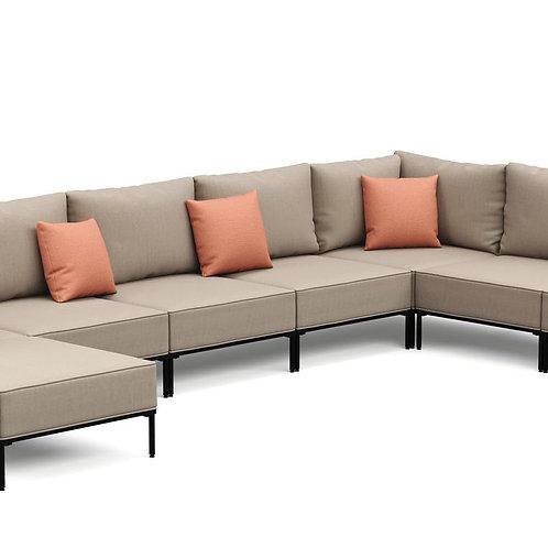 Ecksofa ETHAN Deluxe 6-Sitzer beige