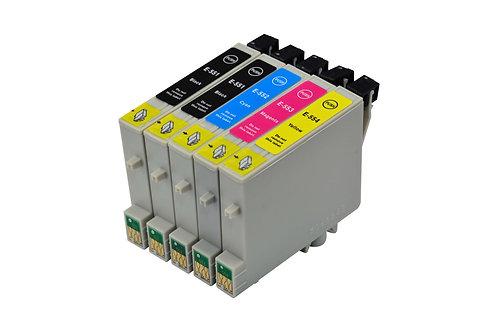 Tintenpatronen Set kompatibel mit Epson T0551 - T0556