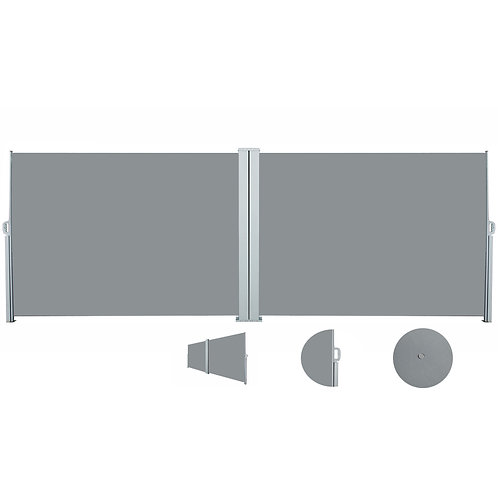 Doppelseitenmarkise 180 x 800 cm grau